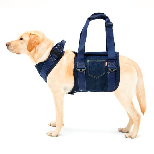 歩行補助ハーネスLaLaWalk大型犬用[デニム]