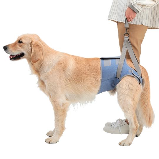 歩行補助ハーネスLaLaWalk Hip 大型犬用[デニム]