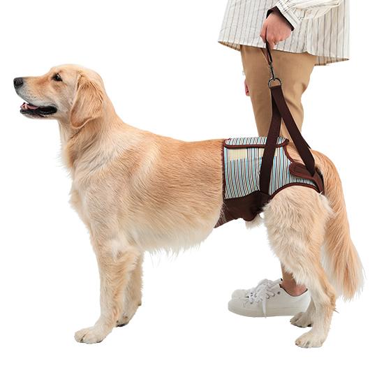 歩行補助ハーネスLaLaWalk Hip 大型犬用[マロンストライプ]