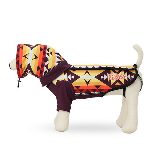 スタンダード小型犬用 オルテガボーダー[赤×紫]