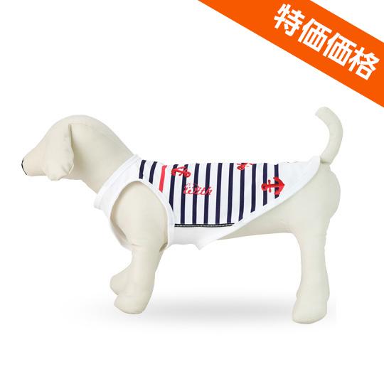 涼しくて安心UVカット小型犬用マリンボーダー[マリンボーダー]